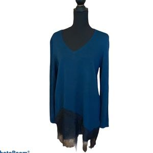 NWT Chico's Dark Turquoise with Lace Accents